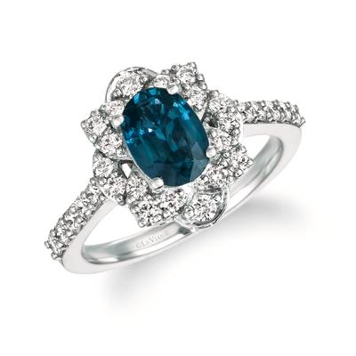 P95 Blueberry Sapphire™ 1  1/3 cts. Ring with Vanilla Diamonds® 5/8 cts. | WJKQ 78