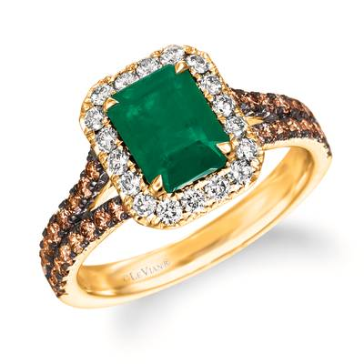 14K Honey Gold™ New Emerald 1  1/5 cts. Ring | WJKS 21