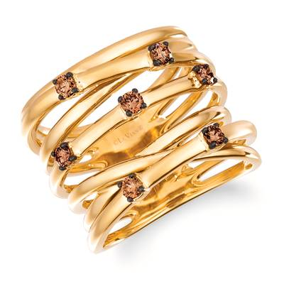 14K Honey Gold™ Ring with Chocolate Diamonds® 1/3 cts. | WJMH 1