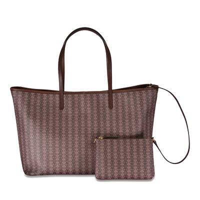 Repeating Logo Chocolate Tote - Large | XBGAM1027CHO
