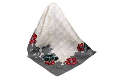 Ancient Royalty to Today's Red Carpet Silk Scarf - Beach Sand & Fog - Patte | XSCSM1002ALE