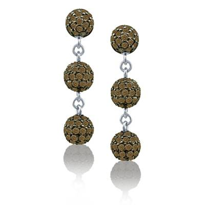 18K Vanilla Gold® Earrings with Chocolate Diamonds® 3  1/2 cts. | YOMN 87
