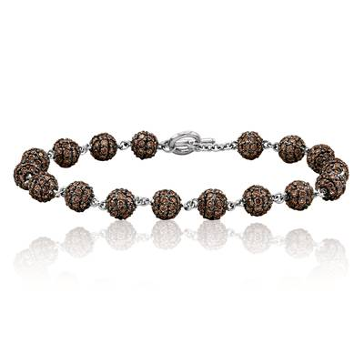18K Vanilla Gold® Bracelet with Chocolate Diamonds® 10 1/3 cts. | YOMN 90
