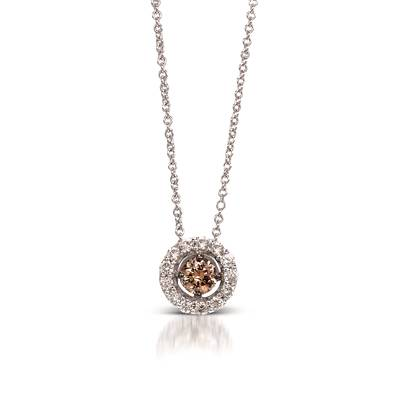 14K Vanilla Gold® Pendant with Chocolate Diamonds® 1/3 cts., Vanilla Diamonds® 1/4 cts. | YOOE 15