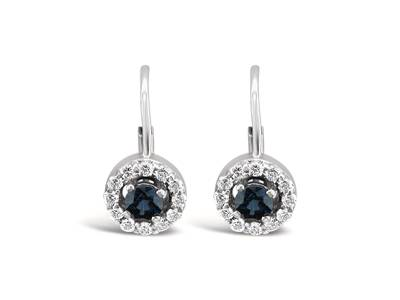 14K Vanilla Gold® Blueberry Sapphire™ 1/2 cts. Earrings with Vanilla Diamonds® 3/8 cts. | YOON 21