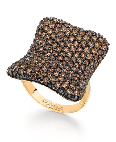 18K Honey Gold™ Ring with Chocolate Diamonds® 3  1/2 cts. | YOQL 34