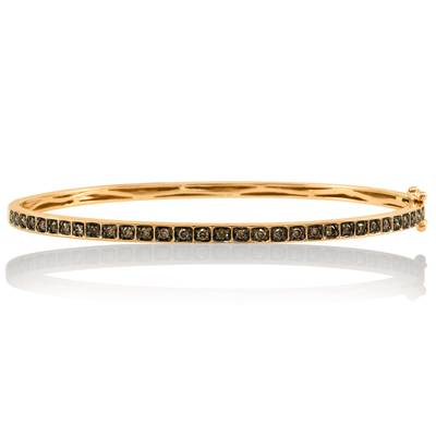 14K Honey Gold™ Bangle with Chocolate Diamonds® 1/2 cts. | YOTL 22