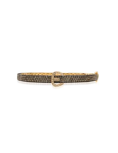 14K Honey Gold™ Bangle with Chocolate Diamonds® 2  3/4 cts., Vanilla Diamonds® 1/15 cts. | YOZW 1
