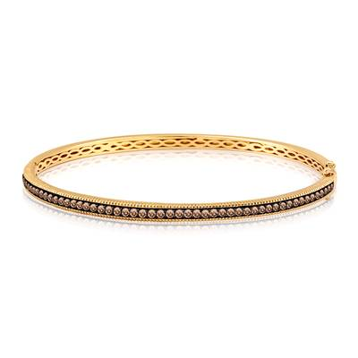 14K Honey Gold™ Bangle with Chocolate Diamonds® 1 cts. | YPHX 2