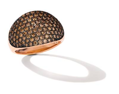 14K Strawberry Gold® Ring with Chocolate Diamonds® 1  3/4 cts. | YPIR 156