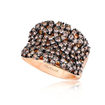 14K Strawberry Gold® Ring with Chocolate Diamonds® 1  3/4 cts. | YPIR 169