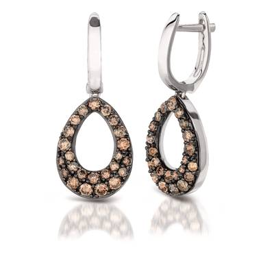 14K Vanilla Gold® Earrings with Chocolate Diamonds® 1 cts. | YPIT 2