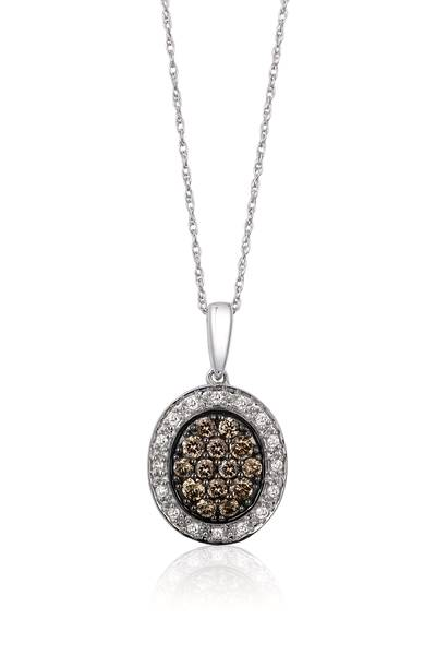 14K Vanilla Gold® Pendant with Chocolate Diamonds® 1/3 cts., Vanilla Diamonds® 1/10 cts. | YPKM 2