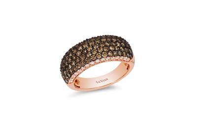 14K Strawberry Gold® Ring with Chocolate Diamonds® 1  3/8 cts., Vanilla Diamonds® 1/3 cts. | YPNL 2