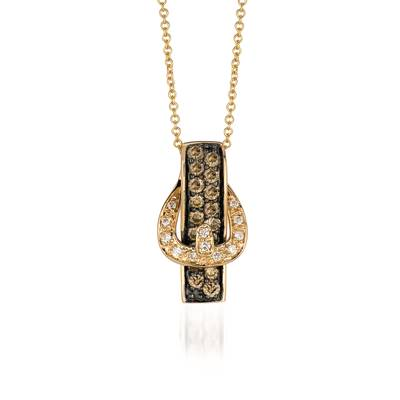 14K Honey Gold™ Pendant with Chocolate Diamonds® 1/2 cts., Vanilla Diamonds® 1/20 cts. | YPSM 3