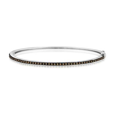 14K Vanilla Gold® Bangle with Chocolate Diamonds® 1/2 cts. | YPST 4