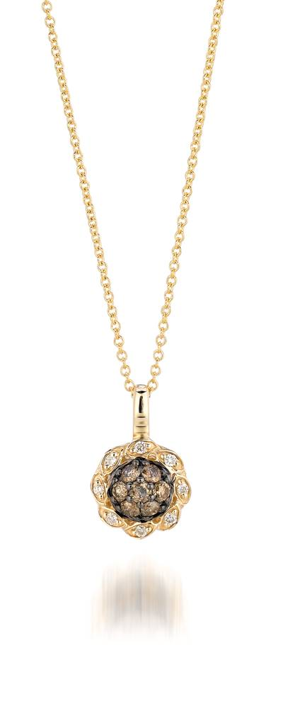 14K Honey Gold™ Pendant with Chocolate Diamonds® 1/4 cts., Vanilla Diamonds® 1/20 cts. | YPZX 10