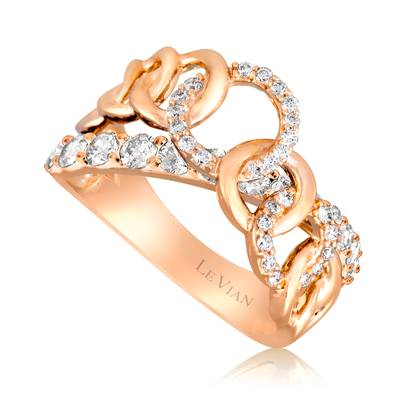 14K Strawberry Gold® Ring with Vanilla Diamonds® 7/8 cts. | YQGI 15