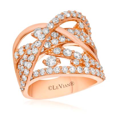 14K Strawberry Gold® Ring with Vanilla Diamonds® 2 cts. | YQGJ 59