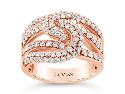14K Strawberry Gold® Ring with Vanilla Diamonds® 1  1/3 cts. | YQGL 5