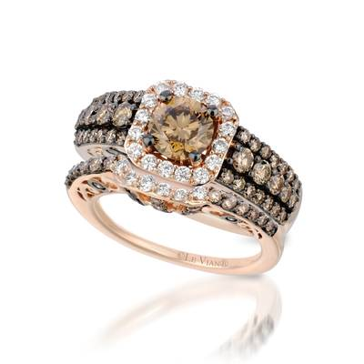 Set with Chocolate Diamonds® 2  1/2 cts., Vanilla Diamonds® 1/3 cts. | YQII 134SET
