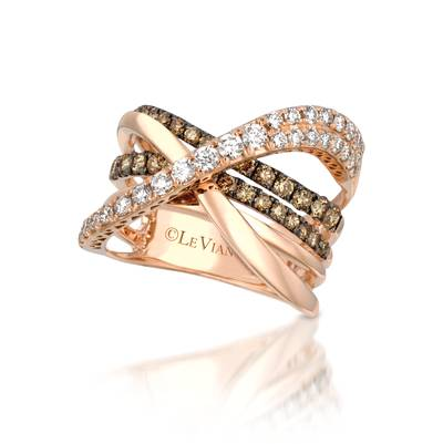14K Strawberry Gold® Ring with Chocolate Diamonds® 3/4 cts., Vanilla Diamonds® 5/8 cts. | YQII 182