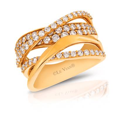 14K Honey Gold™ Ring with Vanilla Diamonds® 1  1/6 cts. | YQII 310