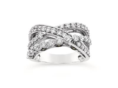 14K Vanilla Gold® Ring with Vanilla Diamonds® 1  1/4 cts., Chocolate Diamonds® 1/20 cts. | YQII 87