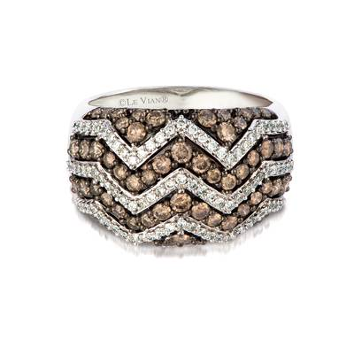 14K Vanilla Gold® Ring with Chocolate Diamonds® 1 cts., Vanilla Diamonds® 1/3 cts. | YQJT 2