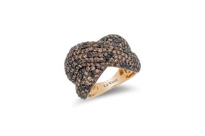 14K Honey Gold™ Ring with Blackberry Diamonds® 1  1/5 cts., Chocolate Diamonds® 2  5/8 cts. | YQOK 83