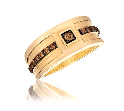 14K Honey Gold™ Ring with Chocolate Diamonds® 5/8 cts. | YQOO 4