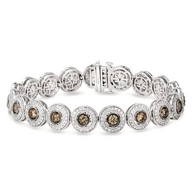 14K Vanilla Gold® Bracelet with Chocolate Diamonds® 2  7/8 cts., Vanilla Diamonds® 1  7/8 cts. | YQQA 7