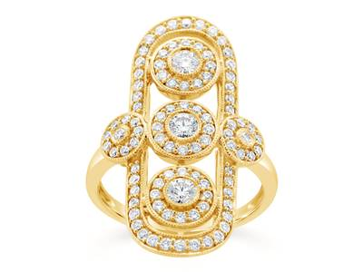 14K Honey Gold™ Ring with Vanilla Diamonds® 1 cts. | YQQP 185
