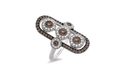 14K Vanilla Gold® Ring with Chocolate Diamonds® 5/8 cts., Vanilla Diamonds® 1/3 cts. | YQQP 39