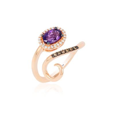 14K Strawberry Gold® Grape Amethyst™ 3/4 cts. Ring | YQRW 32