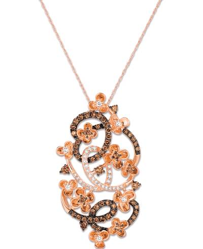 14K Strawberry Gold® Pendant with Chocolate Diamonds® 7/8 cts., Vanilla Diamonds® 1/4 cts. | YQSM 24