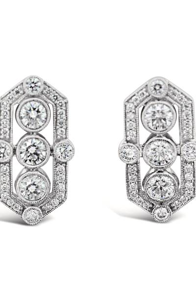 14K Vanilla Gold® Earrings with Vanilla Diamonds® 2 cts. | YQUO 66