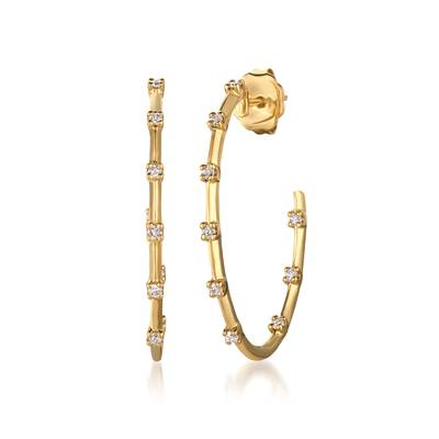14K Honey Gold™ Earrings with Vanilla Diamonds® 1/5 cts. | YQUR 38