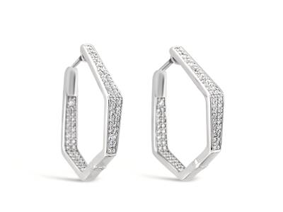 14K Vanilla Gold® Earrings with Vanilla Diamonds® 3/4 cts. | YQUR 65