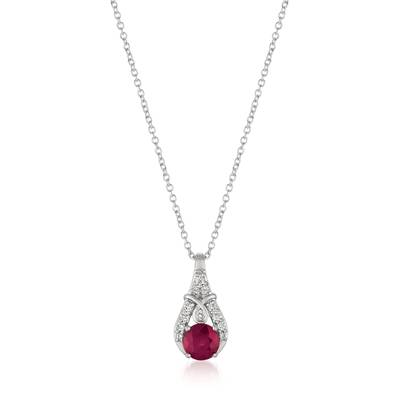 14K Vanilla Gold® Passion Ruby™ 1/2 cts. Pendant with Vanilla Diamonds® 1/10 cts. | YQXM 34