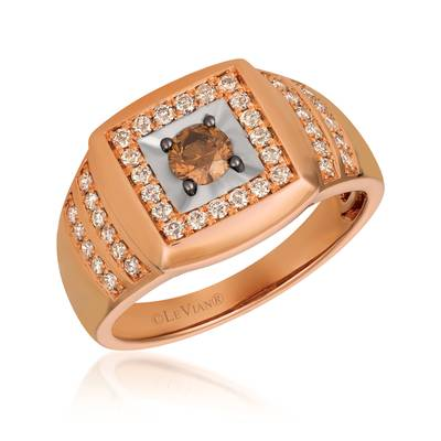 14K Two Tone Gold Ring with Chocolate Diamonds® 1/3 cts., Nude Diamonds™ 1/2 cts. | YQXM 67