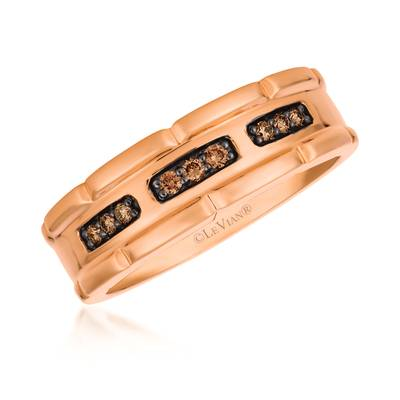 14K Strawberry Gold® Ring with Chocolate Diamonds® 1/6 cts. | YQZE 77