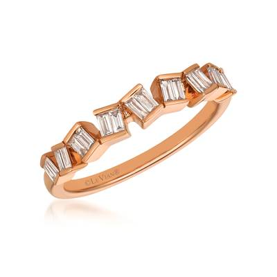 14K Strawberry Gold® Ring with Vanilla Diamonds® 1/4 cts. | YQZY 9