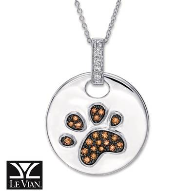 14K Vanilla Gold® Pendant with Chocolate Diamonds® 1/4 cts., Vanilla Diamonds® 1/15 cts. | YRAF 68