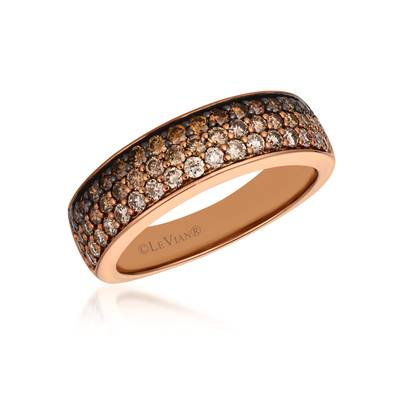 14K Strawberry Gold® Ring with Chocolate Ombré Diamonds® 7/8 cts. | YRAG 13
