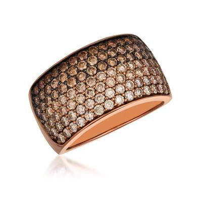 14K Strawberry Gold® Ring with Chocolate Ombré Diamonds® 1  7/8 cts. | YRAG 5