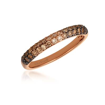 14K Strawberry Gold® Ring with Chocolate Ombré Diamonds® 1/2 cts. | YRAH 2