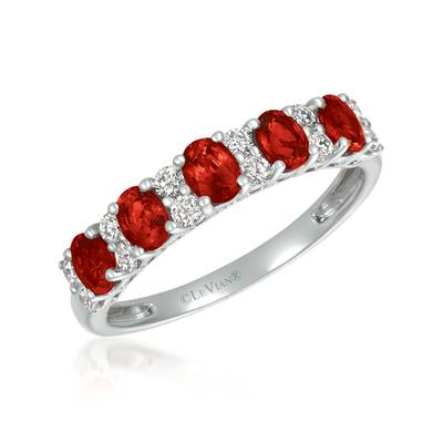 14K Vanilla Gold® Passion Ruby™ 1 cts. Ring with Vanilla Diamonds® 1/3 cts. | YRAT 7