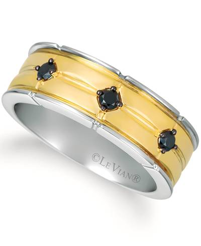 14K Two Tone Gold Ring with Blackberry Diamonds® 1/4 cts. | YRAU 86