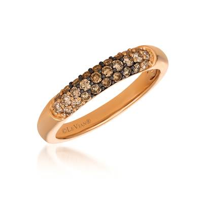 14K Strawberry Gold® Ring with Chocolate Ombré Diamonds® 1/2 cts. | YRBD 35